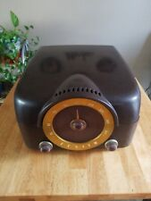 VINTAGE ZENITH COBRA-MATIC RECORD PLAYER AND RADIO IN BAKELITE CASE read