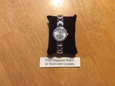 Avon Pure Elegance Watch~Created w/72 Sparkling Swarovski Crystal~Silvertone