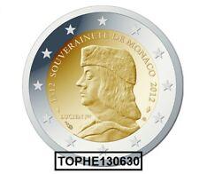 "MONACO COMMEMORATIVE 2012 ""  LUCIEN 1er  "" 2 EURO - NEUVE UNC -"