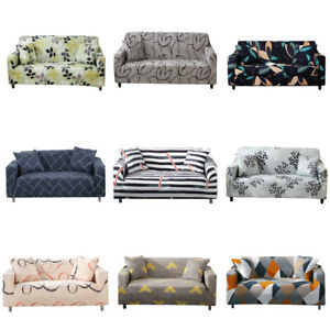 Floral Leaves Stretch Chair Sofa Covers Couch Cover Elastic Slipcover Protector