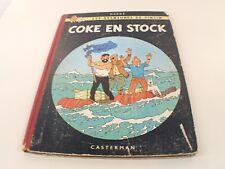 BD TINTIN Coke en Stock Hergé édition B24 1958 Danel 1843