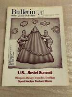 Bulletin of the Atomic Scientists November 1985 US - Soviet Summit