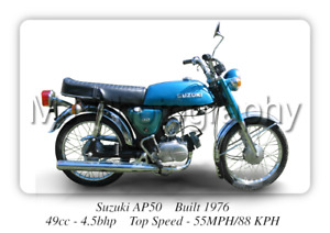 Suzuki AP50 Moped - A3 Size Print Poster on Photographic Paper