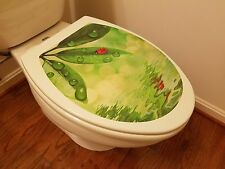 Brand New Toilet Seat Lid Cover Decal Sticker – Cute Ladybug - Free Shipping !!!