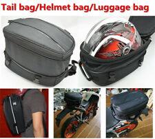 Universal motorcycle tail bag Helmet bag luggage bag backseat +waterproof cover