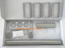 Land Rover Freelander Genuine Brushed Aluminum Veneer Trim Kit Vub501030 New