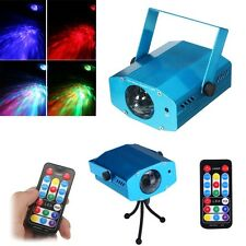 R&G DJ Disco LED Light Mini Projector Party Laser Stage Lighting Show + Remote