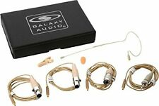 Galaxy Audio ESM8 Single-Ear Headset Mic with 4 Cables (Beige)