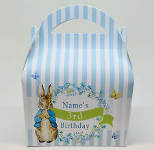 Peter Rabbit Children's Personalised Party Boxes Gift Bag Favour 1ST CLASS POST