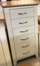 Solid Oak/white Tallboy 6 Drawer Tallboy Shaker style tall narrow chest