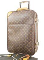 Authentic LOUIS VUITTON Pegase 55 Monogram Canvas Travel Rolling Suitcase #33006