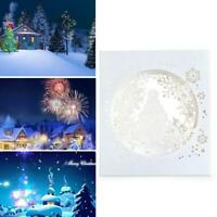 3D Cards Snowflake Christmas Tree Happy New Year Card Holiday Gift 2019hot