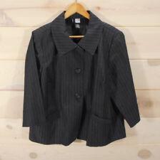 21ef531abb6 Studio 1940 Womens Plus Sz 18W Blazer Dark Gray Striped 3 4 Sleeve Career  Jacket