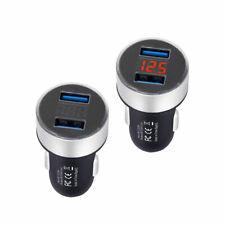 Auto KFZ 2USB Adapter Ladegerät 3,1A 12V Zigarettenanzünder LCD Bildschirm Handy