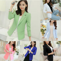 Women OL Work Ladies Long Sleeve Slim Fit Casual Blazer Suit Jacket Coat Outwear