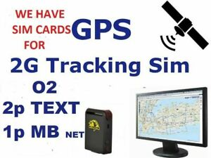 2G GPS TRACKING SIM CARD WITH CREDIT ROLLOVER O2 CLASSIC