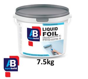 7.5kg AQUA BUILD Liquid Foil Waterproof Tanking Membrane Wet Shower Bath Room