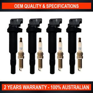 NGK Spark Plug & Swan Ignition Coil Pack for BMW 116i 118i 120i F20 316i F30