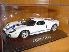 FORD GT40 GT-40 WHITE-DARKBLUE 1:43 MINT!!!