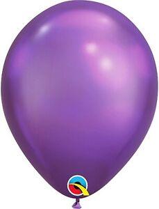 PIONEER BALLOON COMPANY Purple Chrome Latex Balloons. pkg/25