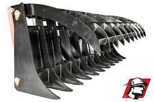 """84"""" Root Rake Debris Silage Rock Skid Steer Attachment for Mustang"""