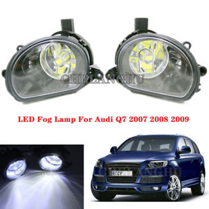 2pcs For Audi Q7 2006 2007 2008 2009 Front LED Fog Lamp Light With Bulbs