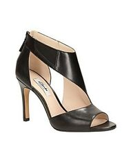 New🍄Clarks Narrative🍄Size 4.5 Curtain Magic Black Leather Peeptoe Shoes 37.5EU