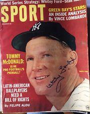 Whitey Ford Autograph / Signed Sport Magazine November 1963 New York Yankees