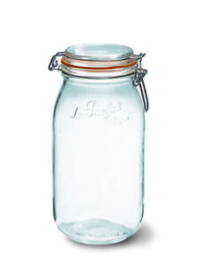 Le Parfait Preserve Jar 2000ml perfect for storage - Orange Rubber ring included