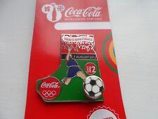 Juegos Olímpicos de Londres 2012 Coca Cola | Fútbol Pin Insignia en tarjeta