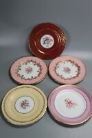5 Collectable Aynsley England Bone China Side Plates. Floral Designs.