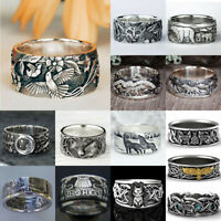 Vintage Handmade 925 Silver Women Cute Bear Animal Ring Wedding Jewelry Sz 5-13