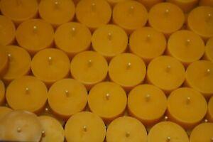 50 Bienenwachs Teelichter 100% BW (ohne Aluhülle) + 3 Teelichtschalen