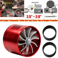 Air Intake Turbonator Turbo Gas Fuel Saver Fan w/Single Propeller Rubber Holder