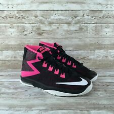 Nike Air Devosion Youth Size 6.5 Black Pink Athletic Training Basketball Shoes