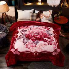 Thicked blanket Luxury winter warm soft quilt bed cover 12lb 82X92in King Queen