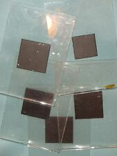 3.5x5 inch clear plastic magnetic picture frames very nice used set of 5