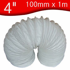 "100mm x 1 m metre       4"" PVC Flexible Ducting / Tumble dryer Hose / Flexi hose"
