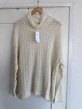 New EILEEN FISHER Peruvian Organic Cotton Sweater Sz XL $268