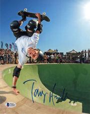 TONY HAWK SIGNED AUTOGRAPHED 8x10 PHOTO SKATEBOARDING LEGEND BECKETT BAS
