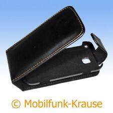 Flip Case Etui Handytasche Tasche Hülle f. Samsung GT-S5330 / S5330 (Schwarz)