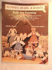 Bunnies, Bears & Babies - Carolyn Jones folk art tole painting pattern #8304