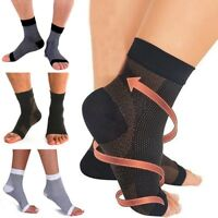 Ankle Support Brace Compression Wrap Sleeves Sports Relief Pain Foot Elastic LX3