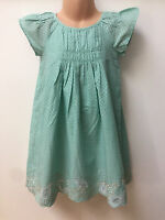 Ex MARKS AND SPENCER GIRL GREEN SPOTTY DRESS FOR GIRLS AGES 12 MONTHS - 6 YEARS