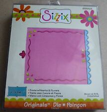 Sizzix Originals Die, Frame with Hearts & Flowers, 655823, New
