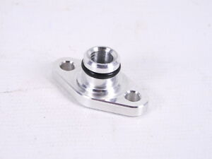 MK1 Starion Conquest Fuel Feed Line Adapter Plate To Stock Throttle Body 1/8NPT