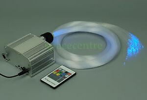 DIY fiber optic ceiling light twinkle stars effect wireless remote night light