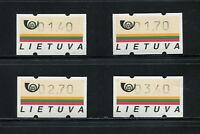 F801  Lithuania  1990  automatic machine stamps   4v.   MNH