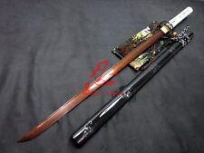 hand forged folded steel blade iron tsuba japanese ninja katana sword sharpened