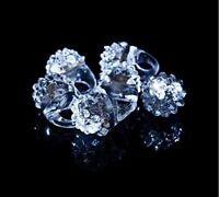 12 PCS Light-Up White Jelly Rings Flashing LED Frozen Snow Favors Blinking Bumpy